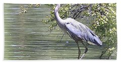 Bath Towel featuring the photograph Blue Heron by Clarice  Lakota