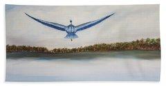 Blue Heron Hand Towel
