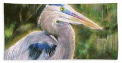 Blue Heron Bath Towel