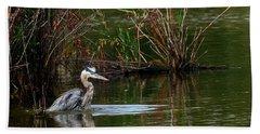 Blue Heron Pond Hand Towel