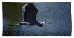 Blue Heron Skies  Bath Towel