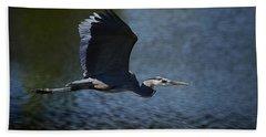 Blue Heron Skies  Hand Towel