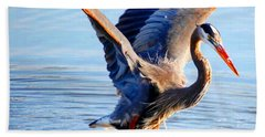 Hand Towel featuring the photograph Blue Heron by Sumoflam Photography
