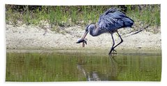 Blue Heron's Lucky Day Hand Towel