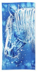 Blue Horse Hand Towel