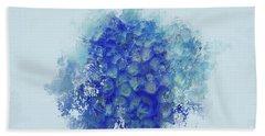 Blue Hortensia Hand Towel by Eva Lechner