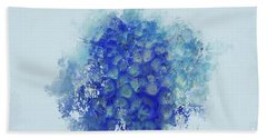 Blue Hortensia Bath Towel by Eva Lechner