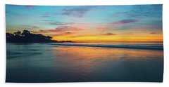 Blue Hour At Carmel, Ca Beach Bath Towel