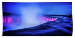 Blue Hour At Niagara Falls Hand Towel