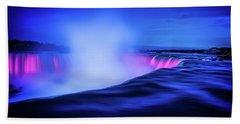 Blue Hour At Niagara Falls Bath Towel