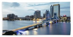 Blue Hour In Jacksonville Hand Towel