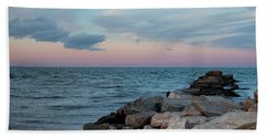 Blue Hour Martha's Vineyard Hand Towel by Marianne Campolongo