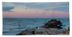 Blue Hour Martha's Vineyard Square Hand Towel by Marianne Campolongo