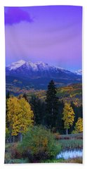 Blue Hour Over East Beckwith Hand Towel
