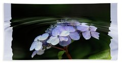 Blue Hydrangea Hand Towel by Elaine Hunter