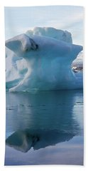 Blue Ice And Reflection Bath Towel