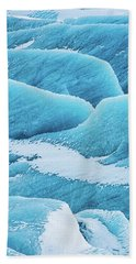 Hand Towel featuring the photograph Blue Ice Svinafellsjokull Glacier Iceland by Matthias Hauser