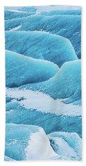 Bath Towel featuring the photograph Blue Ice Svinafellsjokull Glacier Iceland by Matthias Hauser