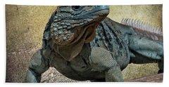 Blue Iguana Hand Towel