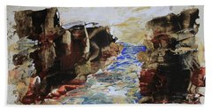 Blue Inlet Abstract Bath Towel