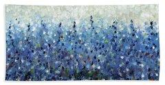 Blue Intensity Hand Towel by Lynne Taetzsch