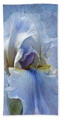 Blue Iris Fog Bath Towel by Phyllis Denton