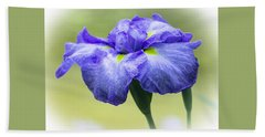 Blue Iris Bath Towel