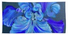 Blue/lavender Iris Hand Towel