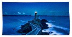 Blue Lighthouse Hand Towel