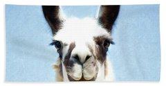 Blue Llama Hand Towel