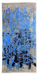 Blue Hand Towel by Lori Seaman