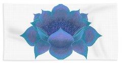 Hand Towel featuring the digital art Blue Lotus by Elizabeth Lock