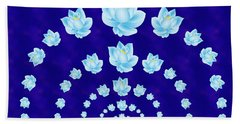 Blue Lotus Tunnel Hand Towel