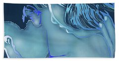 Blue Love Hand Towel