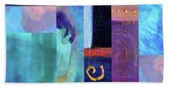 Hand Towel featuring the digital art Blue Love by Nancy Merkle