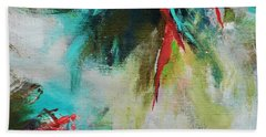 Bath Towel featuring the painting Blue Man 2 by Suzzanna Frank