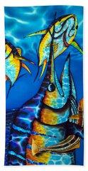 Blue Marlin Hand Towel