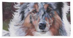 Blue Merle Sheltie Bath Towel