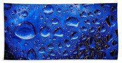 Blue Meteor Storm Hand Towel