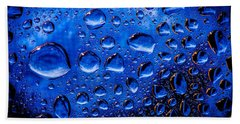 Blue Meteor Storm Bath Towel