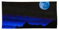 Blue Moon Bath Towel by Adam Asar