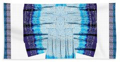 Blue Moon Butterfly Womens Fashion Couture From Jaipur India Cotton Printed Fabric With Embroidary W Bath Towel