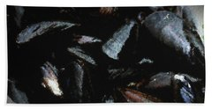 Blue Mussels Bath Towel