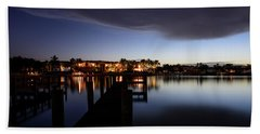 Bath Towel featuring the photograph Blue Night by Laura Fasulo