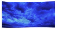 Blue Night Hand Towel by Mark Blauhoefer