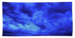 Blue Night Bath Towel by Mark Blauhoefer