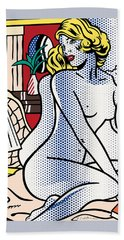 Blue Nude - Pop Art - Roy Lichtenstein Bath Towel