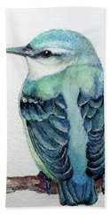 Blue Nuthatch Bath Towel