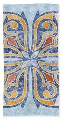 Blue Oriental Tile 04 Bath Towel