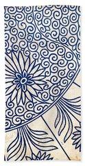 Blue Oriental Vintage Tile 01 Bath Towel